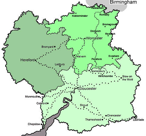 Gloucestershire map